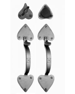 Forged Double Heart Dummy Double Handle Pull Set