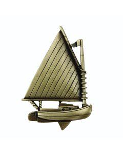 Antique Brass Catboat Cabinet Knob