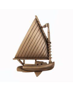 Museum Gold Catboat Cabinet Knob