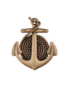 Museum Gold Anchor & Rope Cabinet Knob