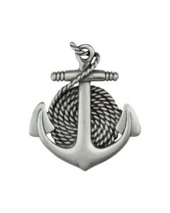Antique Pewter Anchor & Rope Cabinet Knob
