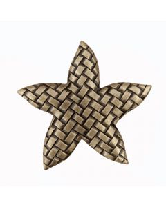 Antique Brass Woven Star Cabinet Knob