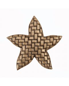 Museum Gold Woven Star Cabinet Knob