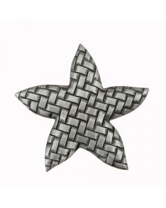 Antique Pewter Woven Star Cabinet Knob