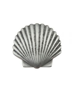 Antique Pewter Small Scallop Cabinet Knob
