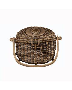 Museum Gold Nantucket Basket Cabinet Knob