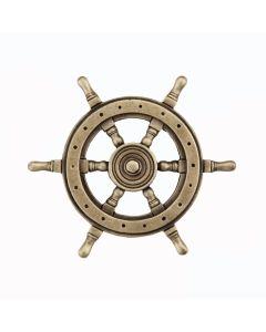Antique Brass Ship's Wheel Cabinet Knob