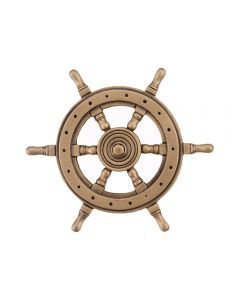 Museum Gold Ship's Wheel Cabinet Knob