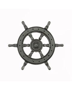 Antique Pewter Ship's Wheel Cabinet Knob