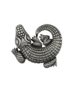 Antique Pewter Alligator Cabinet Knob