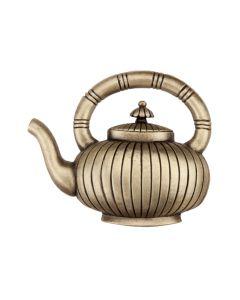 Antique Brass Teapot Cabinet Knob