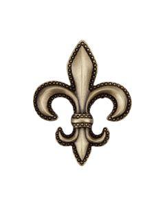 Antique Brass Fleur-De-Lis Cabinet Knob