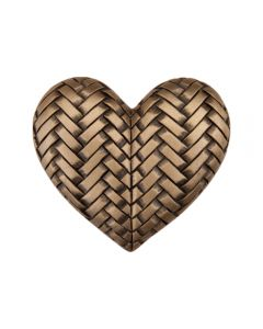 Museum Gold Woven Heart Cabinet Knob