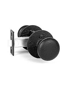 "2-3/4"" Backset Rough Iron Double Knob Privacy Set"