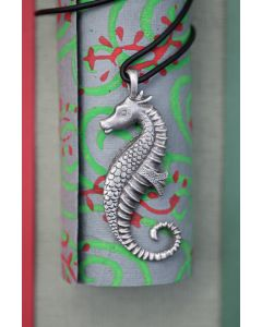 Seahorse Necklace with Pewter Pendant