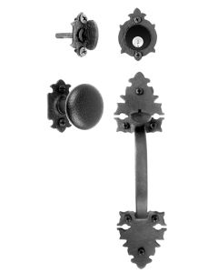 Large Double Warwick Handle & Knob Mortise Lock Set