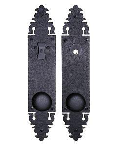 Double Knob with Escutcheon Plate Tubular Lock Set