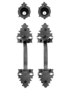 Large Double Warwick Double Handle Double Cylinder Mortise Lock Set