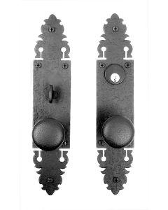 Warwick Double Knob with Double Escutcheon Mortise Lock Set