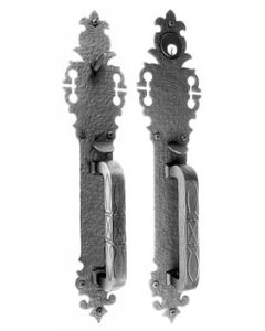 Large Double Handle with Warwick Plate Double Cylinder Mortise Lock Set