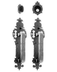Small Double Handle with Warwick Plate Mortise Lock Set