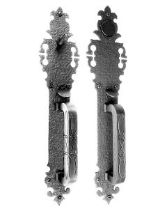 Large Double Handle with Warwick Plate Mortise Lock Set