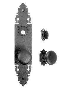 Warwick Double Knob with Single Escutcheon Mortise Lock Set